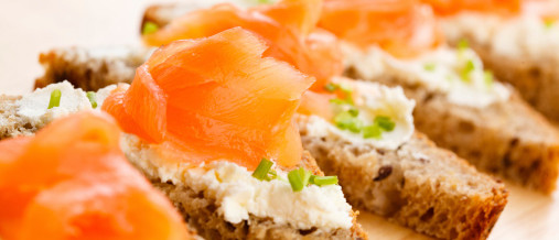 Listeria in smoked salmon and Salmonella in chicken meat